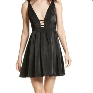 FREE PEOPLE  Gabby Party All Night Dress  Black